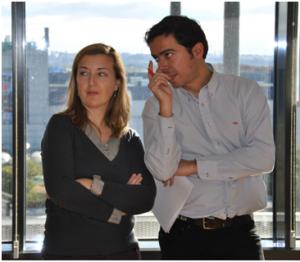 Eva Fernández, Marketing Manager de Adecco y Pablo Burgué Director de Factoría de Talento Adecco